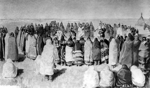 The Arapaho Ghost Dance had its effect when it spooked the US military of the era.