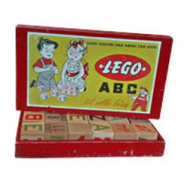 One of the first set of Lego wooden blocks.