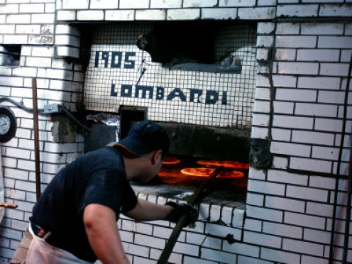 Lombardi's Coal oven in use still today.