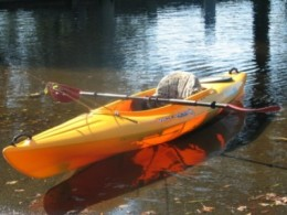 A sit in kayak