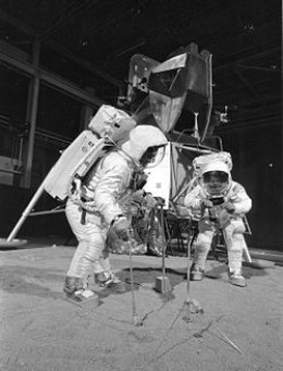 Training exercise for the Apollo 11 moon landing