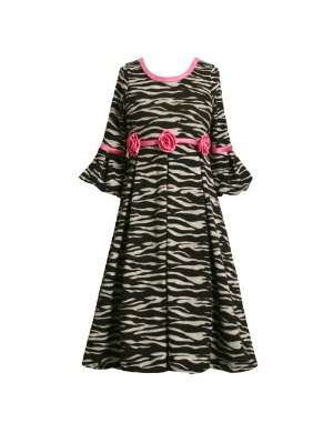 Bonnie Jean Zebra print girls dress