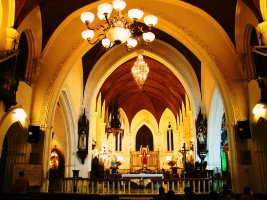 Inside Santhome Basilica