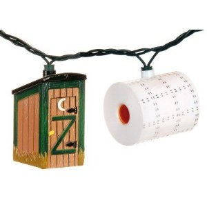 Outhouse and Toilet Paper Christmas tree Lights