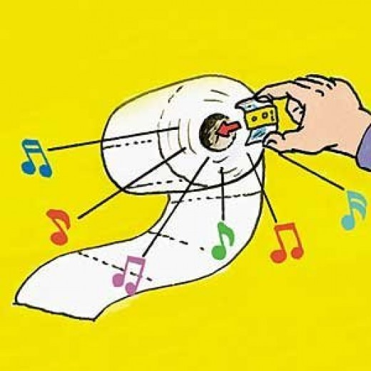 Singing Christmas Toilet Paper