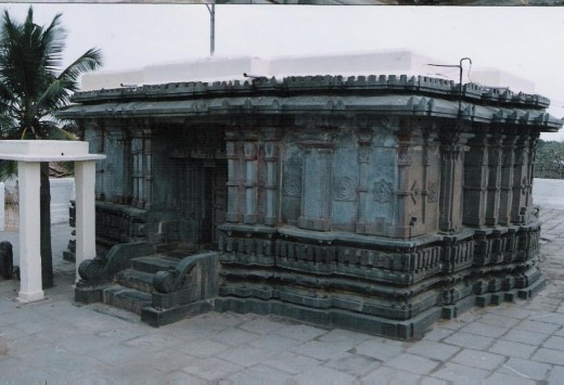 front portion of Heggere jain temple, karnataka