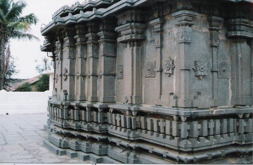Side portion of heggere jain temple