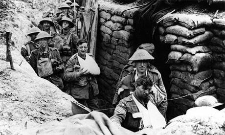 Troops in the trenches