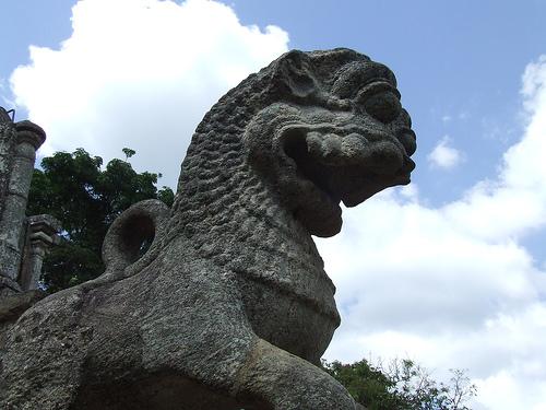 The famous Yapahuwa Lion stone carving