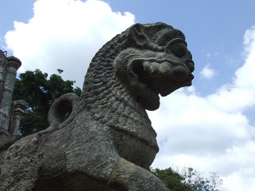The famous Yapahuwa Lion stone carving