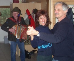 Dancing with Brazilian friend on New Year's Day!