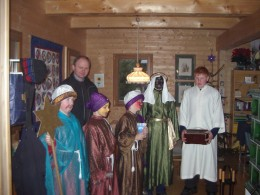 Children dressed as the Three Kings come to sing for us around January 6th.