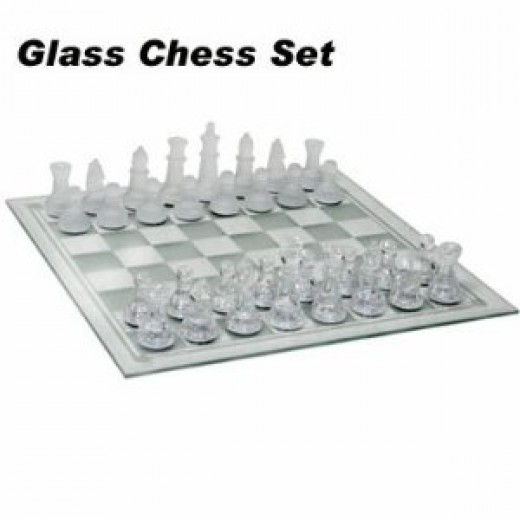 Beautiful Glass Chess Set