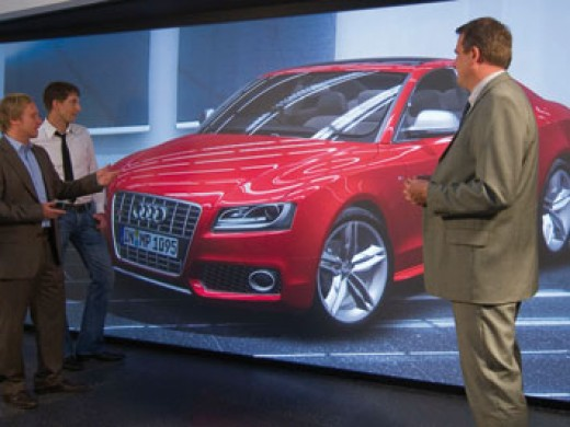 Audi design presentation in virtual room
