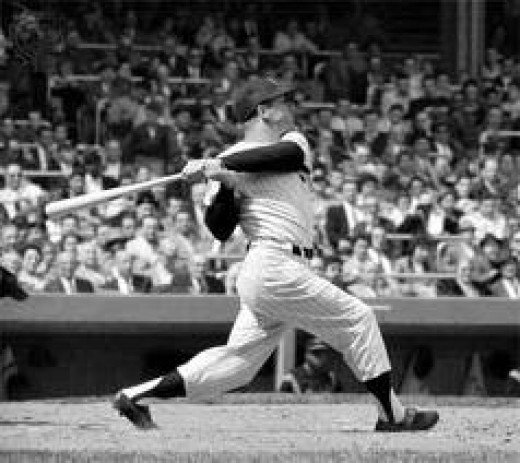 Mickey Mantle - the closest thing, historically, to Josh Hamilton in MLB.