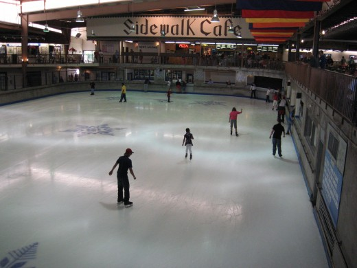 Ice skating at Ober Gatlinburg.