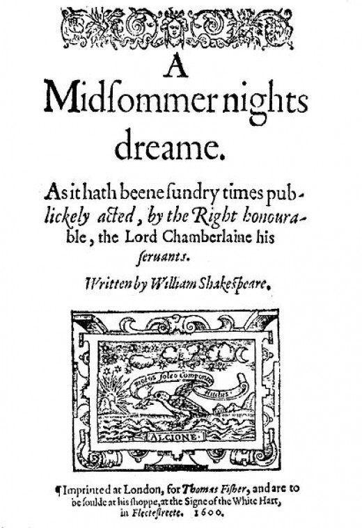 A quarto sized page from, Shakespeare's Midsummer Night's Dream.