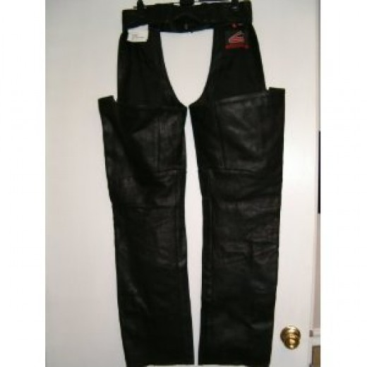 Hein Gericke Men's Leather High Noon Chaps Medium