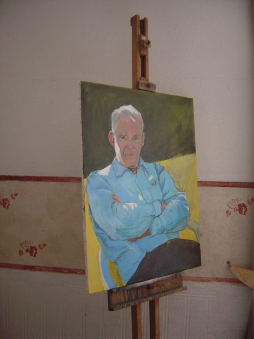 Portrait of Steven by Barbara Walton, tutor at Les Trois Chenes