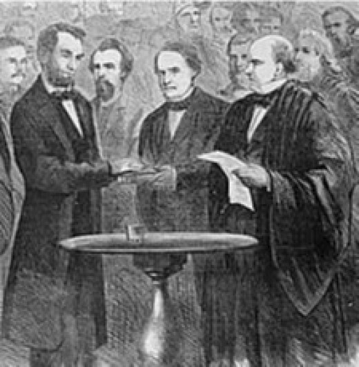 Lincoln Being Sworn in as President