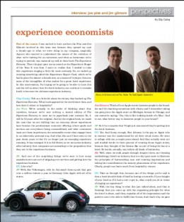 First page of a two-page interview article.