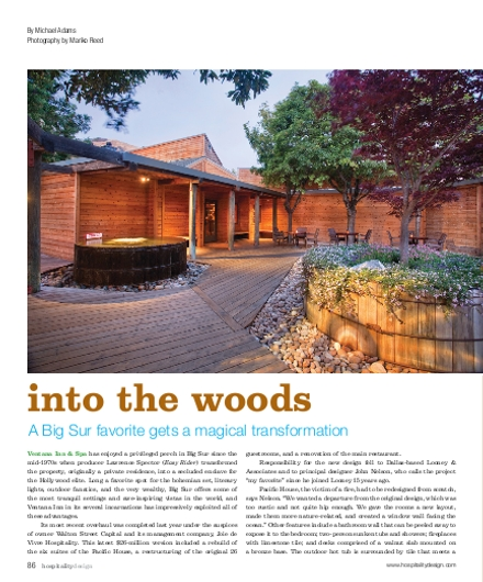 A regular feature in Hospitality Design magazine 10/2010