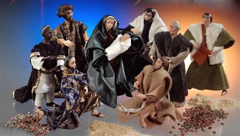 Nativity Scene made from liquid wood.