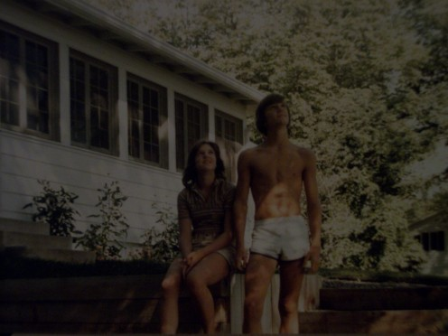 Dave and I as teenagers living on Lake Minnetonka.