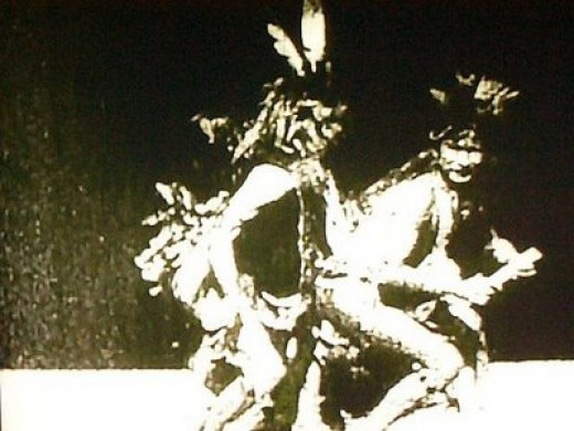 Here is an old photo of a couple of Spirit Dancers. These dancers were anticipating the arrival of paradise as understood by the First Nations.