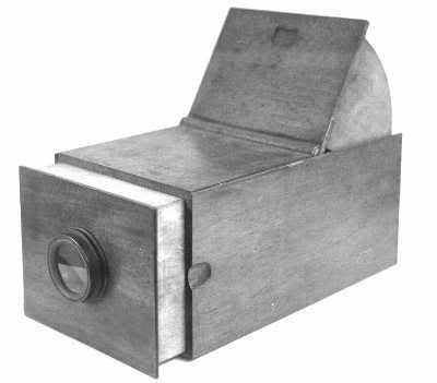 An old camera obscura. It does not take pictures, but simply displays the image, which can then be traced to make a lifelike drawing.