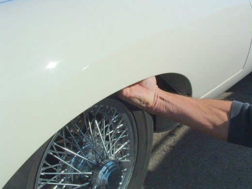 Check the inside of wheel arches for any signs of rust