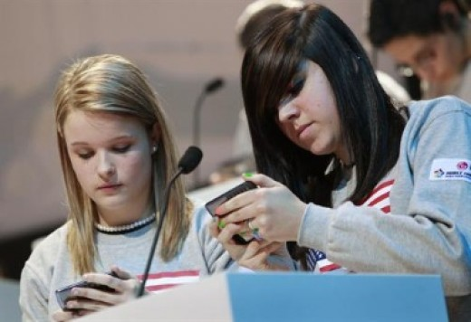 LG phones are great for texting, as seen here in the texting world championships.