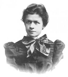 Mileva Mari 1896. Einstein first wife.