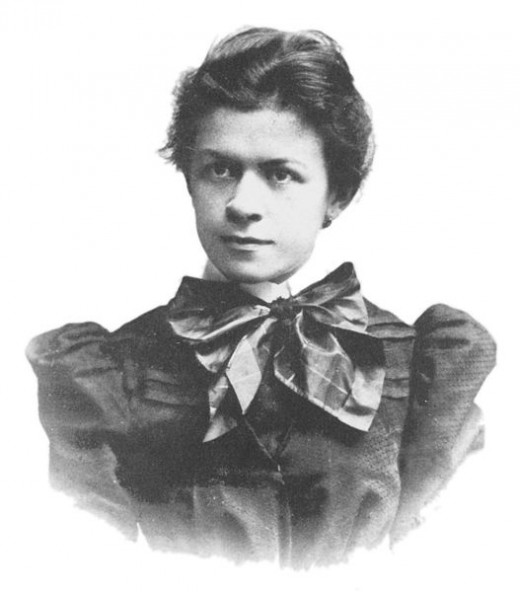 Mileva Mari 1896. Einstein's first wife.