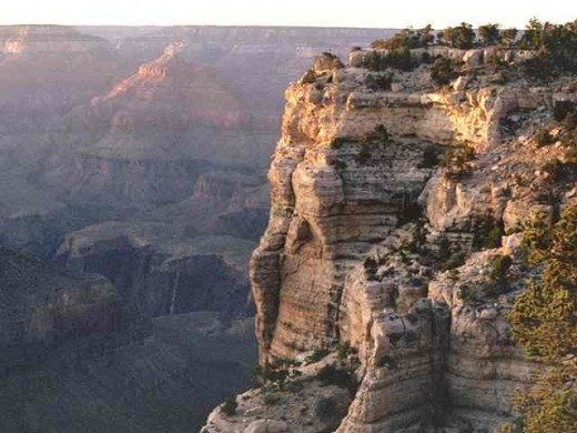 1.  The Grand Canyon, USA. The biggest (about 350km) and deepest (1.6-1.8km) canyon in the world.