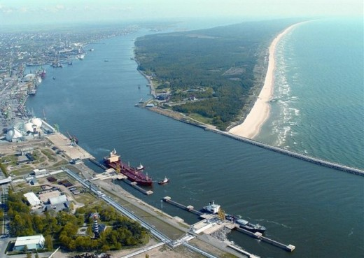 Klaipda, harbour city near Baltic Sea