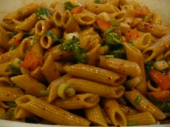 Tangy and Spicy  Vegetarian Whole Wheat Pasta