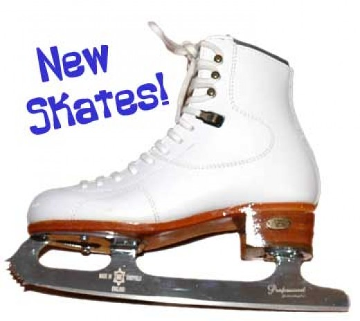 Every figure skater is thrilled to get her first pair of new white skates.
