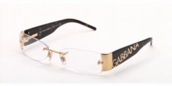 Dolce and Gabbana Style 1102 Eyeglasses - comes in gold, white, silver and black frames, as well as color scheme mixtures. One of the hottest optical eyewear types on the market by D&G. Brand logo appears down arms on the outside of the frame.