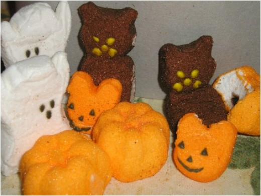 Halloween Peeps Pops and Treats