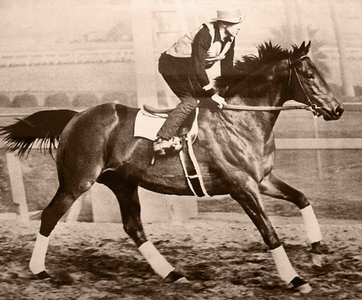 George Woolf took over as Seabiscuit's jockey after Red Pollard's devastating injuries due to a fall off Fair Knightess, another horse belonging to Charles S. Howard.