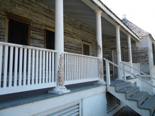Front porch of main house : Kingsley Plantation
