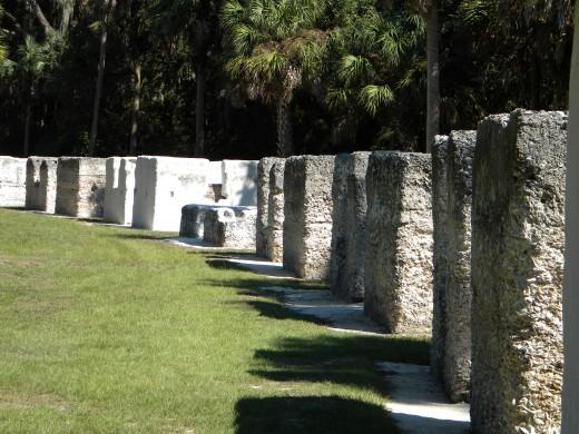 Tabby slave ruins : Kingsley Plantation