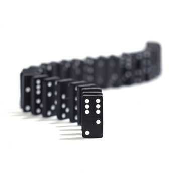 line of dominoes
