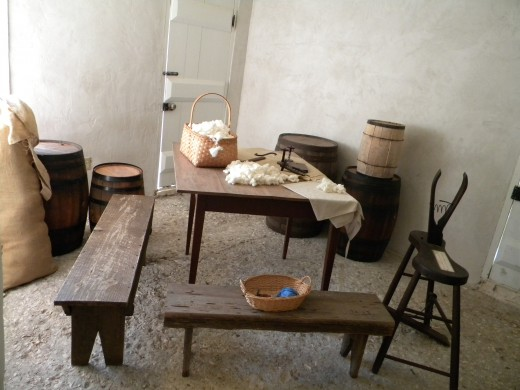 Workroom in the lower kitchen complex : Kingsley Plantation