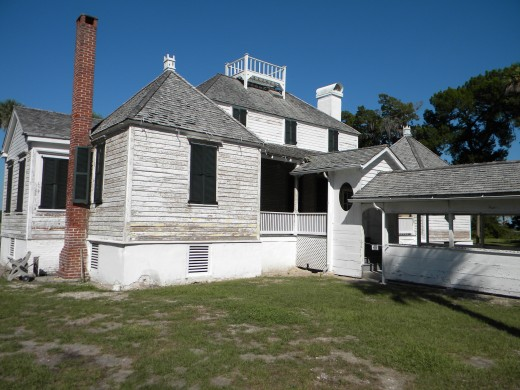 Rear of Kingsley Plantation main house