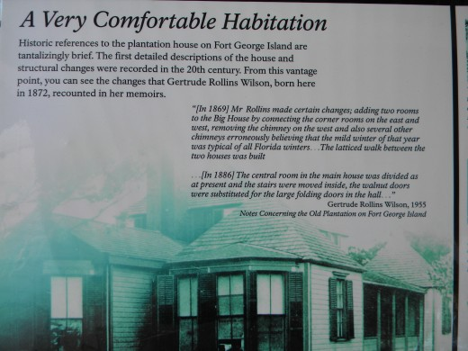 Writings from a previous occupant of Kingsley Plantation