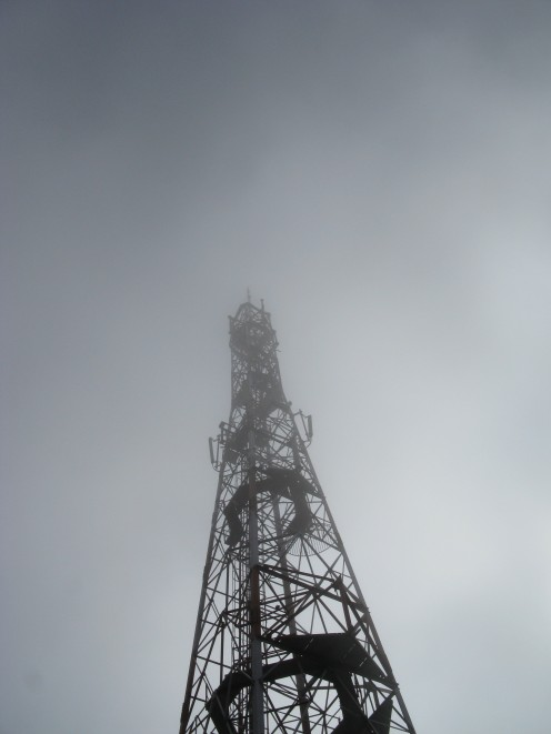 The microwave transmitter atop the hill