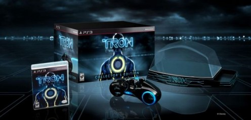 Contains Tron Evolution, a Light Cycle collectible model by Sideshow Collectibles and a display case for the model and the game.