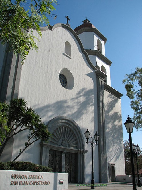 The Newer Mission Basilica next to the ancient one in San Juan Capistrano.